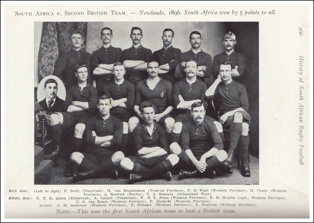 South Africa rugby team 1896